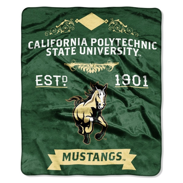 COL 670 Cal Polytechnic State 'Label' Raschel Throw