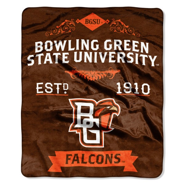 COL 670 Bowling Green State 'Label' Raschel Throw