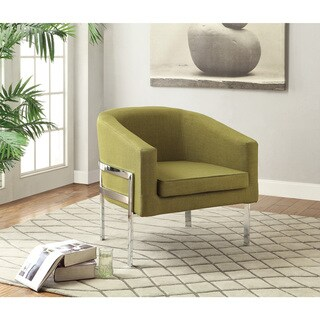 "Coaster Company Chrome Barrel Chair - 31"" x 29"" x 29.50"""