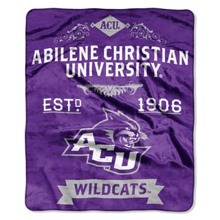 COL 670 Abilene Christian 'Label' Raschel Throw