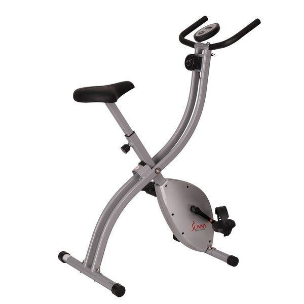 Sunny Health and Fitness SF-B2605 Magnetic Folding Exercise Bike - Silver