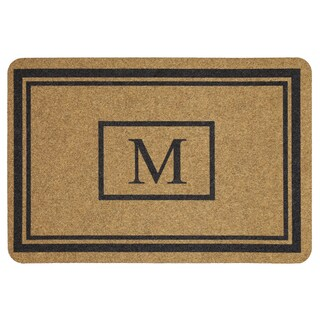 Mohawk Home Grand Terrace Natural Monogram M (1'11 x 2'11)