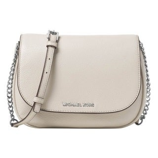 Michael Kors Cement Bedford Medium Saddle Shoulder Handbag