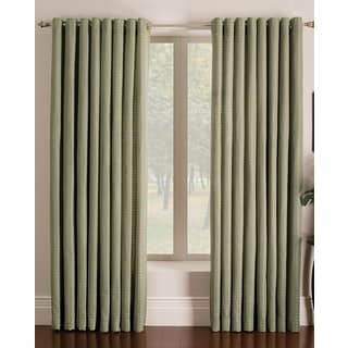 Miller Curtains Ascher Green Polyester 84-inch Grommet Curtain Panel