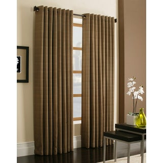 Miller Curtains Darien Brown 95-inch Grommet Curtain Panel