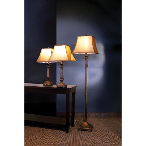 Coaster Company Traditional Floor and Table Lamps (Set of 3)