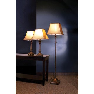 Traditional Floor and Table Lamps Set of 3