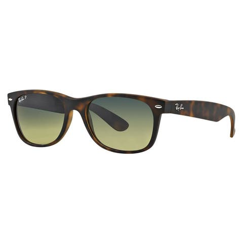 Ray-Ban RB2132 894/76 New Wayfarer Tortoise Frame Polarized Blue/Green Gradient 52mm Lens Sunglasses
