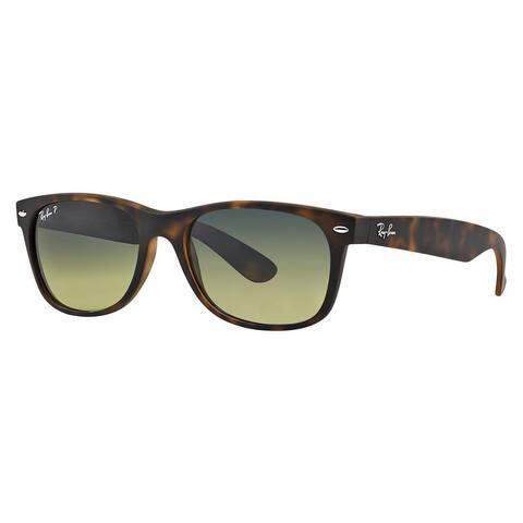 Ray-Ban RB2132 894/76 New Wayfarer Tortoise Frame Polarized Blue/Green Gradient 52mm Lens Sunglasses