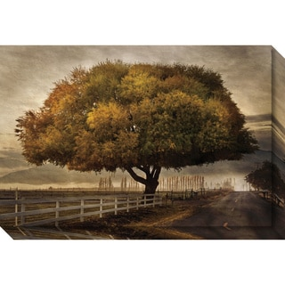 Canvas Art Gallery Wrap 'Autumnal Landscape' by David Lorenz Winston 30 x 20-inch