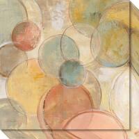Canvas Art Gallery Wrap 'Fresco Bubbles Crop' by Silvia Vassileva 20 x 20-inch