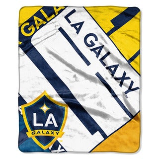 MLS 070 LA Galaxy Scramble Raschel Throw