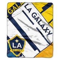 MLS 070 LA Galaxy Scramble Raschel Throw