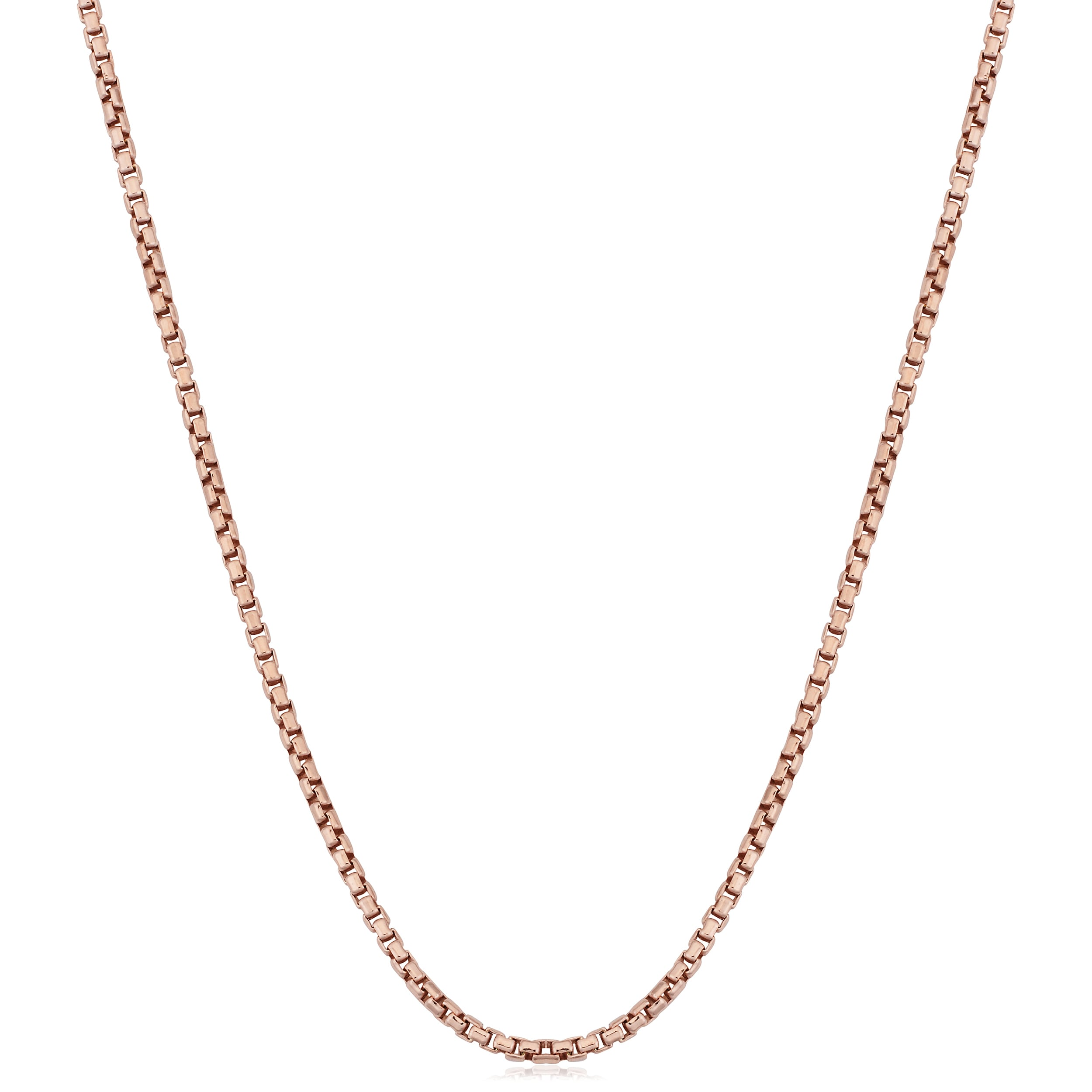 Sterling Silver Womens 1mm Box Chain Credit Card Pendant Necklace