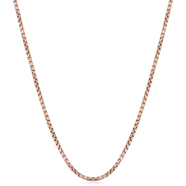 Fremada Italian Rose Gold over Sterling Silver 1-mm Round Box Chain Necklace (16 - 36 inches). Opens flyout.