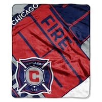 MLS 070 Chicago Fire Scramble Raschel Throw