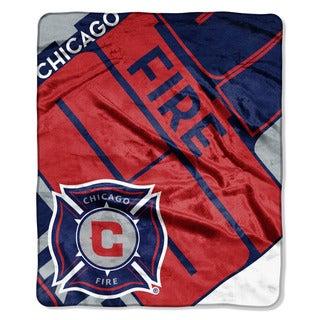 MLS 070 Chicago Fire Scramble Raschel Throw