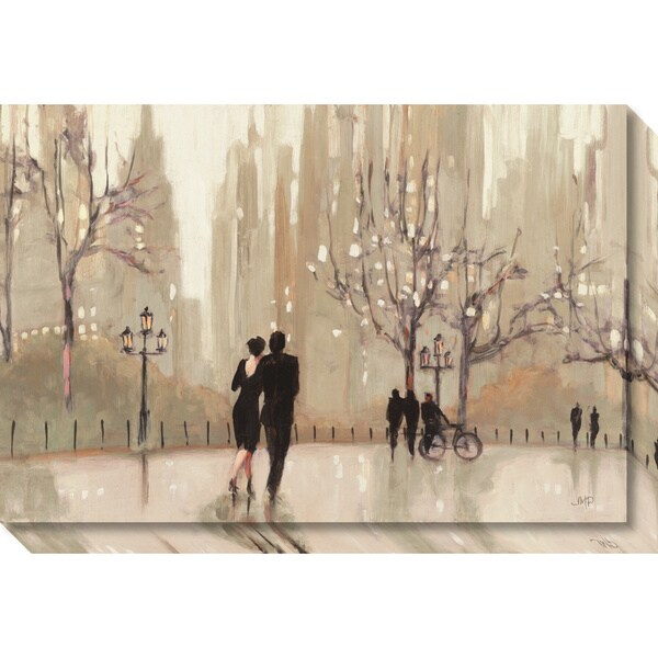 Canvas Art Gallery Wrap 'An Evening Out Neutral' by Julia Purinton 30 x 20-inch