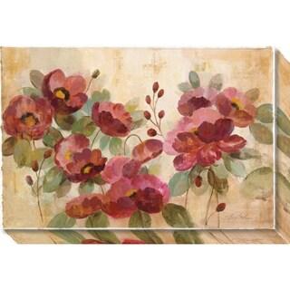 Canvas Art Gallery Wrap 'Fleurs Rouge' by Silvia Vassileva 27 x 18-inch
