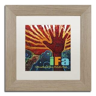 Lowell S.V. Devin 'International Fine Artist Flag' Matted Framed Art