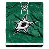 NHL 670 Stars Jersey Raschel Throw
