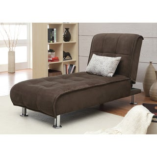 Brown Microfiber Chaise