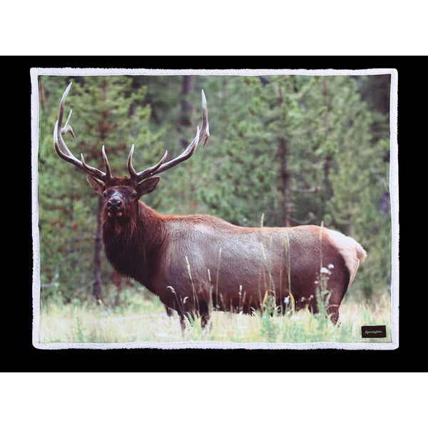 Remington Photo Real Elk Printed Supreme Velvet Throw