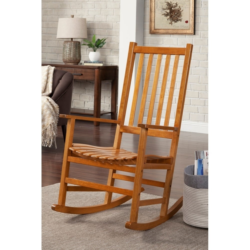Coaster Furniture Oak Wood Rocking Chair (Oak), Brown