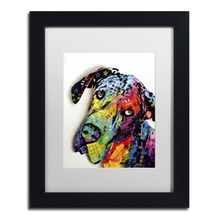 Dean Russo 'Tilted Dane' Matted Framed Art