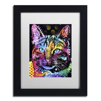 Dean Russo 'Thoughtful Cat' Matted Framed Art