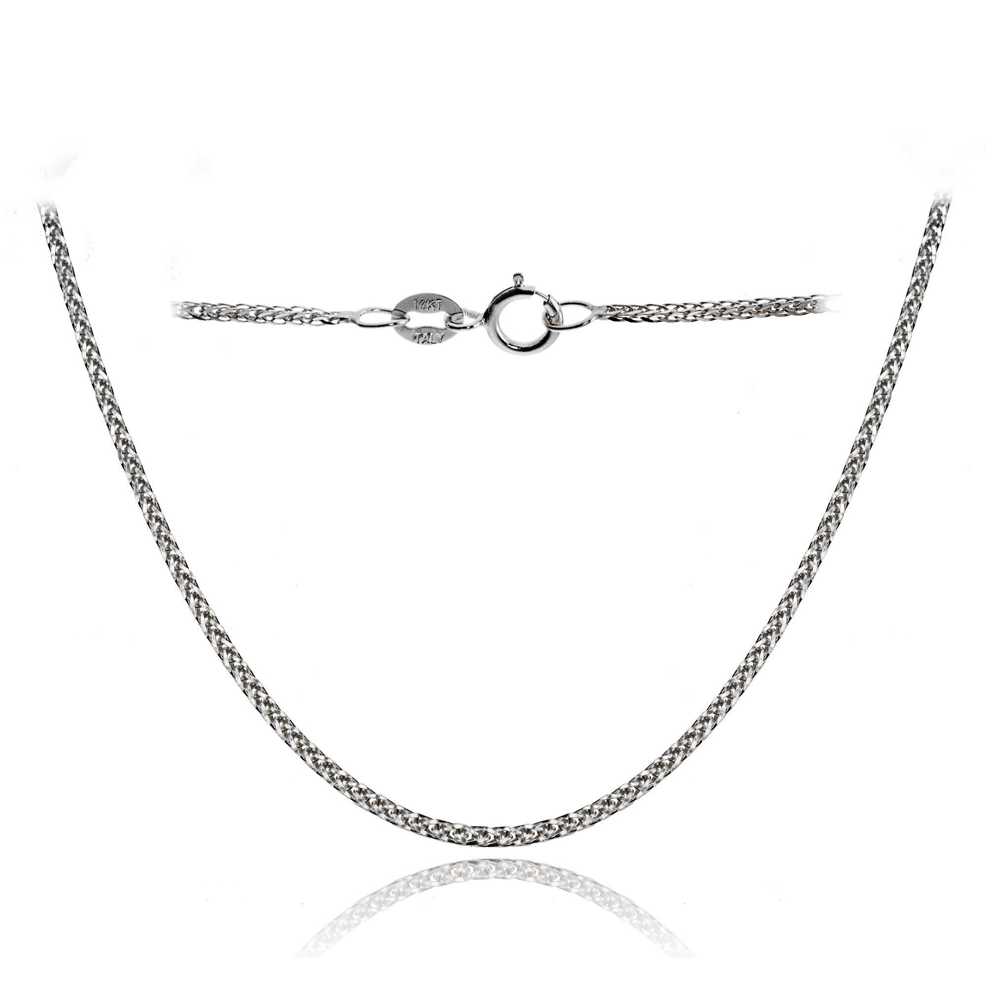 Sterling Silver Girls .8mm Box Chain I LOVE SOCCER Word Pendant Necklace