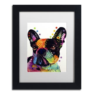 Dean Russo 'French Bulldog' Matted Framed Art