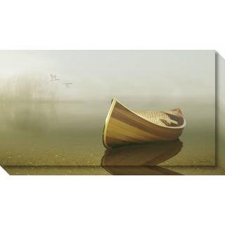 Canvas Art Gallery Wrap 'Alone in the Mist 2' by Carlos Casamayor 33 x 18-inch