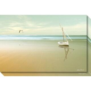 Canvas Art Gallery Wrap 'Soft Sunrise on the Beach 1' by Carlos Casamayor 30 x 20-inch