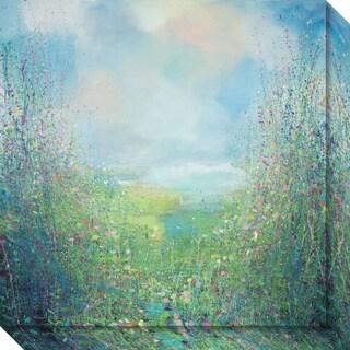Canvas Art Gallery Wrap 'Flower Field' by Sandy Dooley 20 x 20-inch