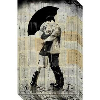 Canvas Art Gallery Wrap 'The Black Umbrella' by Loui Jover 15 x 24-inch