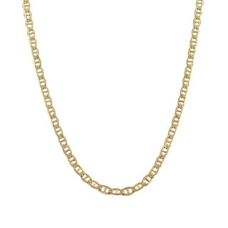 Decadence 14K Yellow Gold Concave Mariner Link Chain