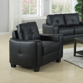 Coaster Company Leather Double Stitched Arm Chair