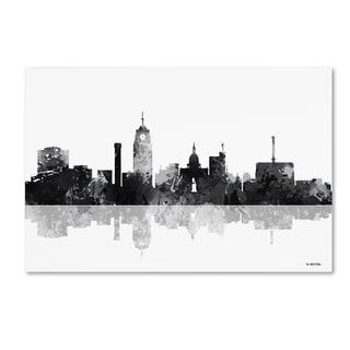 Marlene Watson 'Lansing Michigan Skyline BG-1' Canvas Art