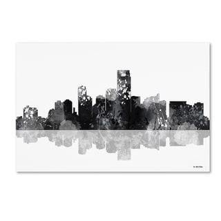 Marlene Watson 'Jersey City New Jersey Skyline BG-1' Canvas Art