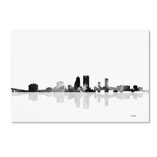 Marlene Watson 'Jacksonville Florida Skyline BG-1' Canvas Art