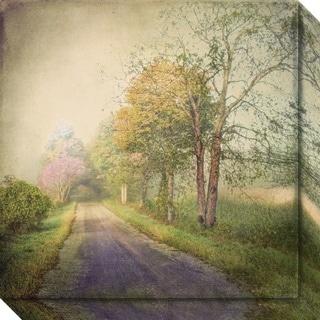 Canvas Art Gallery Wrap 'Sweet Road' by Dawne Polis 20 x 20-inch
