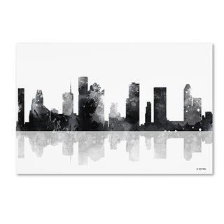 Marlene Watson 'Houston Texas Skyline BG-1' Canvas Art