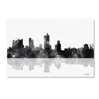 Marlene Watson 'Fort Worth Texas Skyline BG-1' Canvas Art