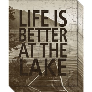 Canvas Art Gallery Wrap 'Life Is Better At The Lake' by Sparx Studio 16 x 20-inch