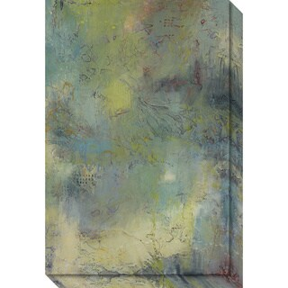 Canvas Art Gallery Wrap 'Blue and Green Musings I' by Jeannie Sellmer 20 x 30-inch