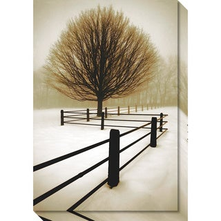 Canvas Art Gallery Wrap 'Solitude' by David Lorenz Winston 21 x 30-inch