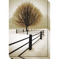 Canvas Art Gallery Wrap 'Solitude' by David Lorenz Winston 21 x 30-inch