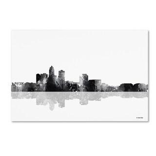 Marlene Watson 'Des Moines Iowa Skyline BG-1' Canvas Art