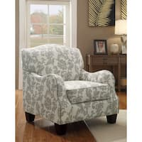 Coaster Company Beige Linen Floral Accent Chair
